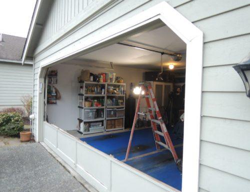 Garage Door Bent Panel Repair In Birmingham MI